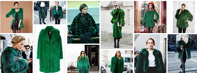 Обзор стильных моделей зеленых шуб