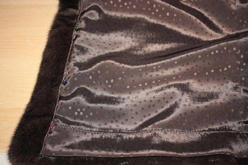 Фото подкладки норковой шубы