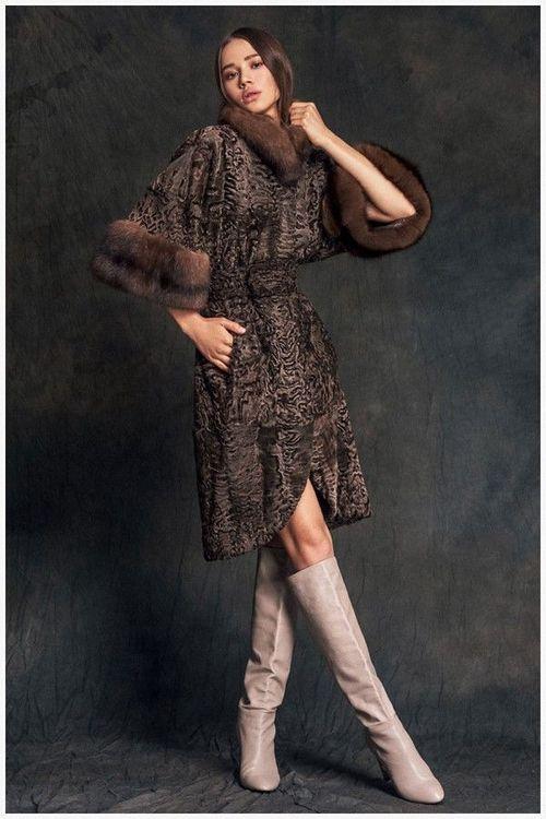 Модная шубка из каракуля