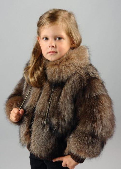 Детская шуба из натурального меха