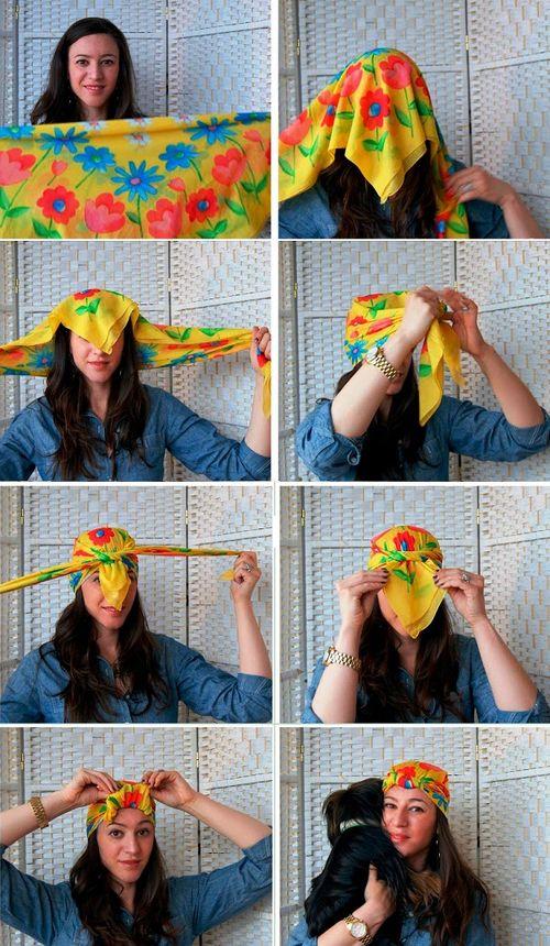 Мастер-класс как красиво завязать платок на голове