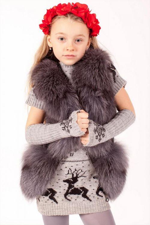 Детская меховая жилетка из натурального меха