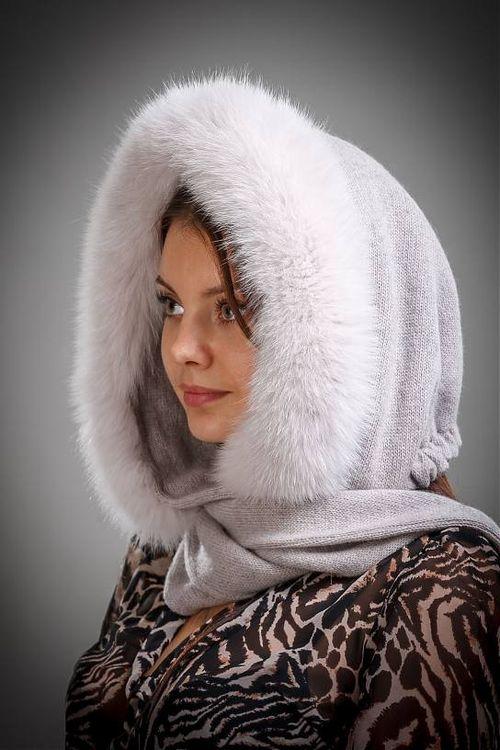 Капор-шарф