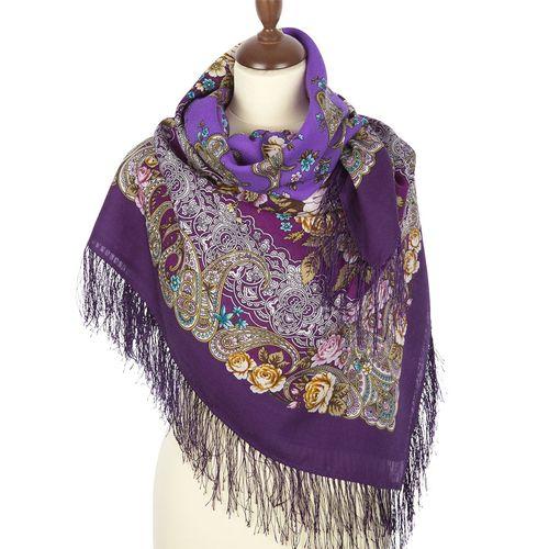 платок шерстяной с шелковой бахромой