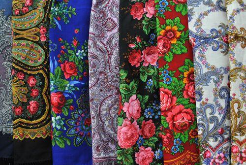 Разноцветные платки