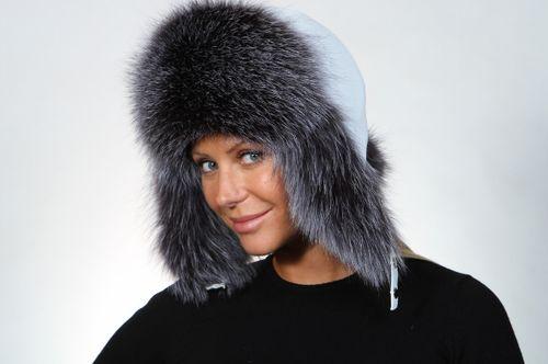 Женская меховая шапка Зимушка из меха лисы