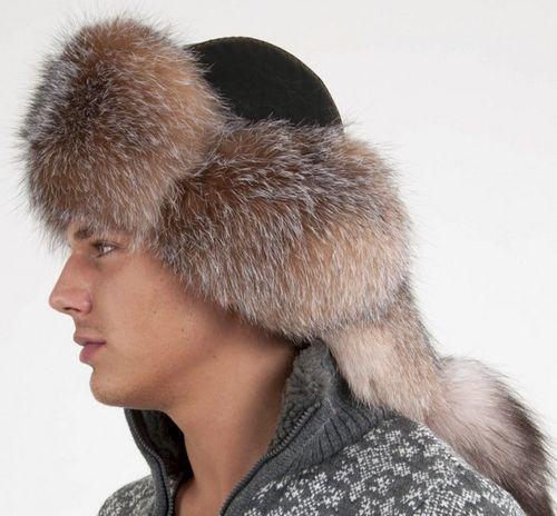 Мужская шапка-малахай