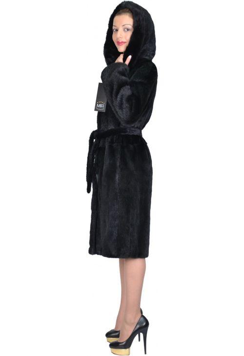 Шуба-халат с капюшоном