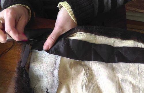 Подшив низа шубы своими руками