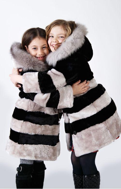 Детские мутоновые шубы для девочек