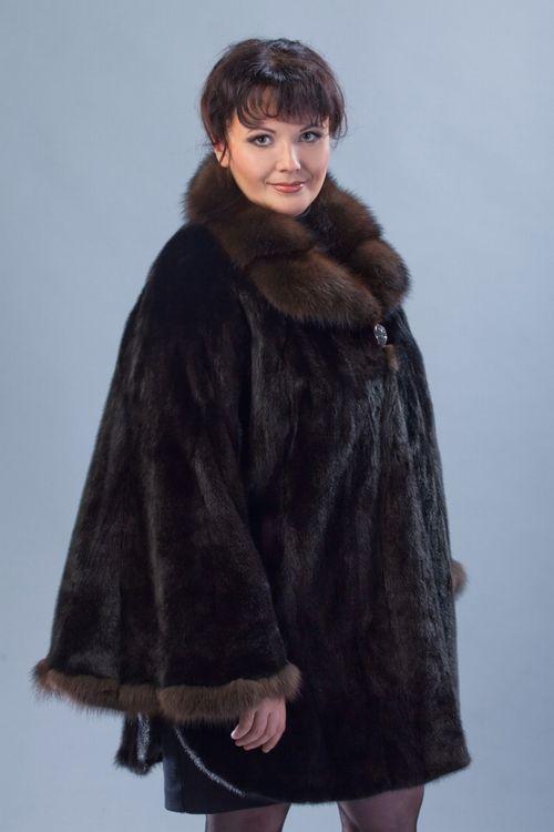 Женская шуба 70 размера фасона «летучая мышь»