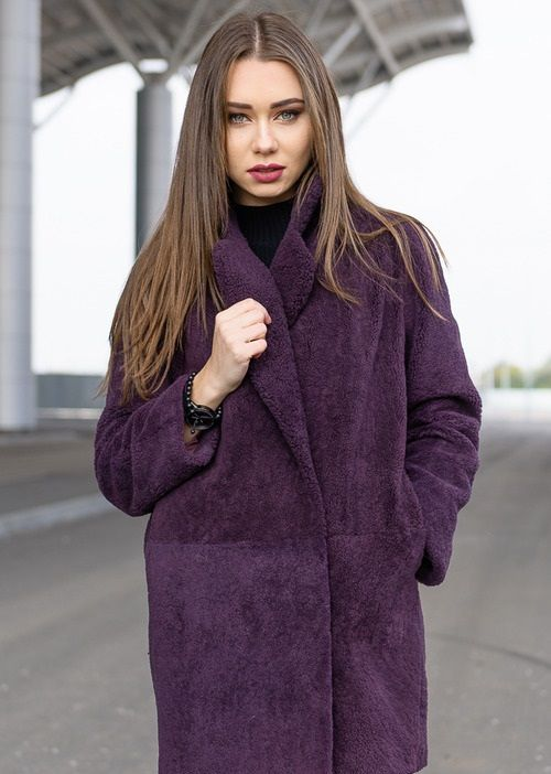 Шуба-пальто из «керли» оверсайз