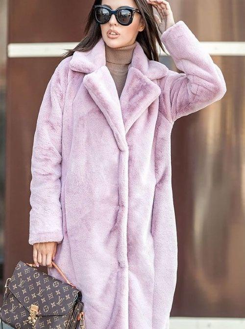 Розовая шуба
